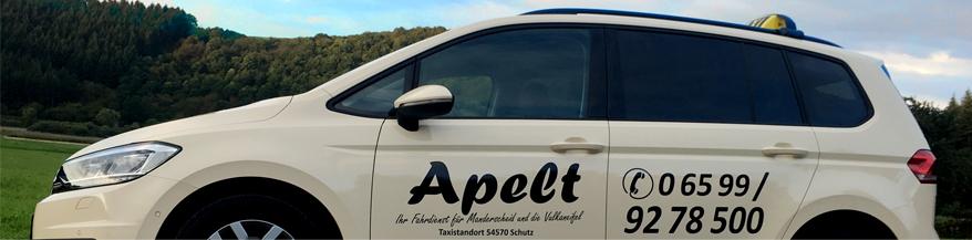 Fahrdienst für Manderscheid und die Vulkaneifel - Taxi & Mietwagen Apelt aus Schutz